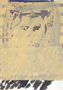enamel and polycolor on paper, 40x60cm, 2002.